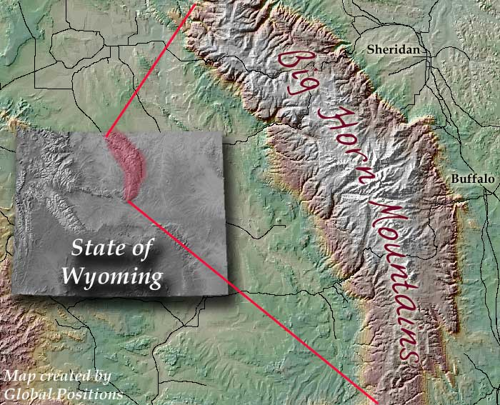 ABOUT Training Tuesday Podcast - Bighorn mountains map us